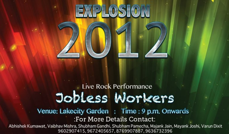 Celebrate your new year with EXPLOSION O'12