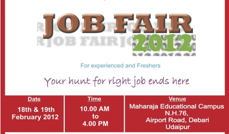Job Fair 2012 – Maharaja Group of Colleges