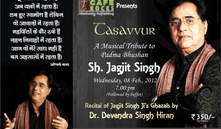 Tasavvur: A Musical Tribute to Jagjit Singh at Cafe Rocks
