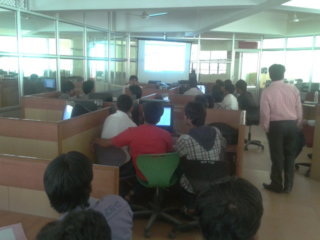 Wordpress Workshop in Maharaja College of Engineering