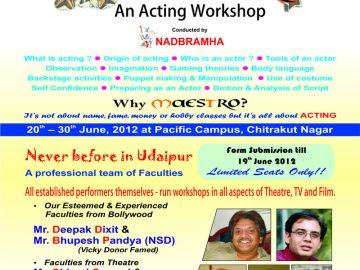 Maestro-workshop | UdaipurBlog