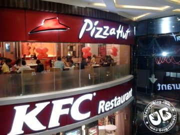 kfc and pizza hut in udaipur