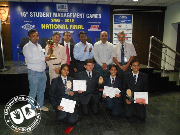 Pacific Students become the first ever team from Rajasthan to bag the AIMA-SMG 2012 National Trophy