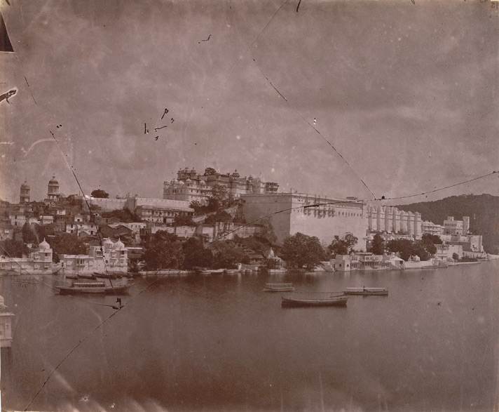 General view from the north-west of the City Palace, Udaipur