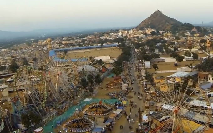 [Video] Pushkar from Sky – Aerial View by PixelDo
