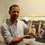 Rajesh Soni with book Men of Rajasthan (at Madri Haveli)