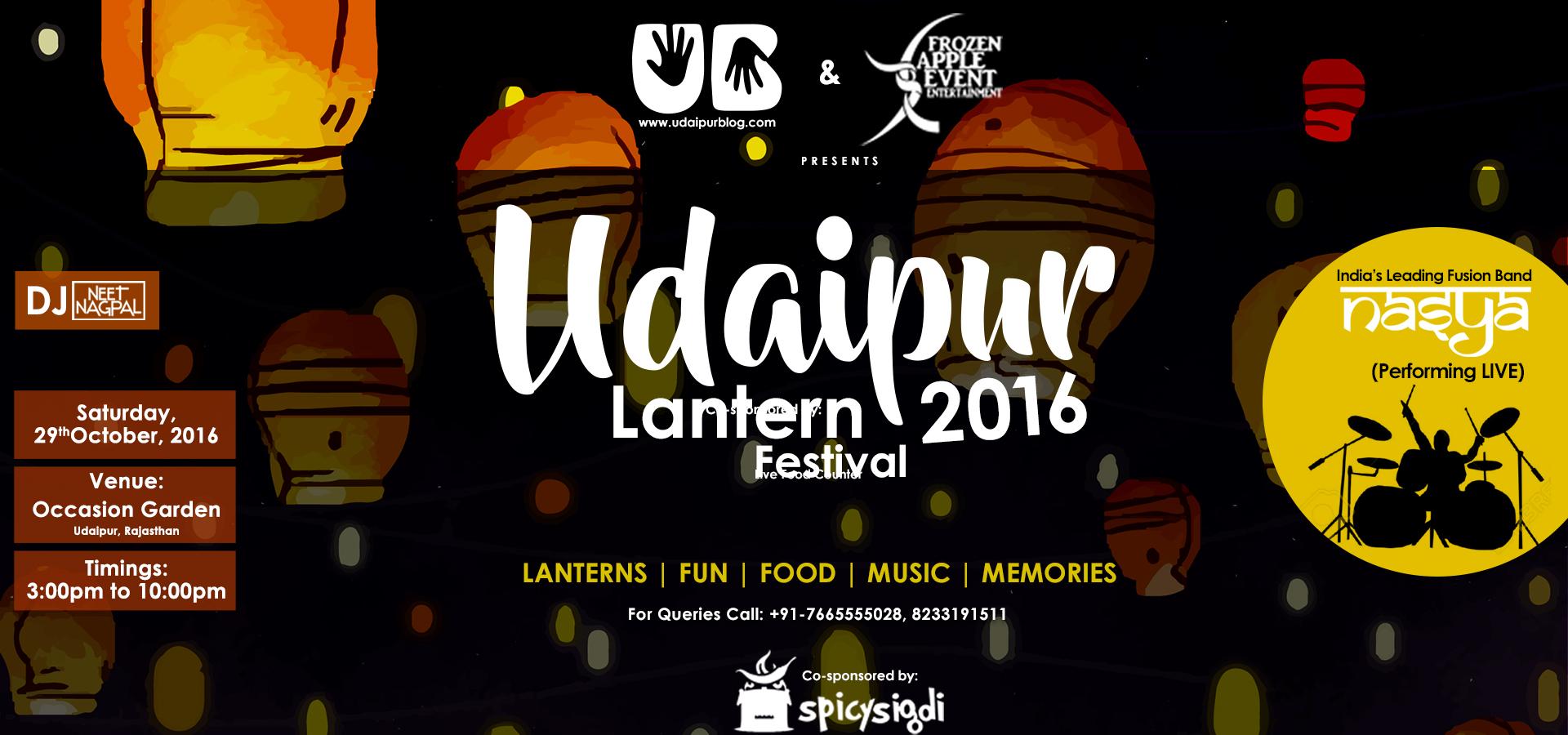 UdaipurBlog invites you for Udaipur Lantern Festival 2016