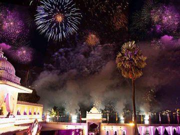 fireworks in udaipur