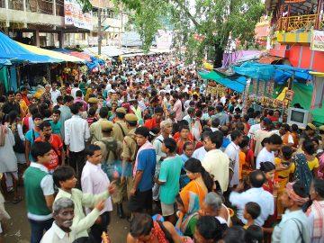 Gathering of people at Ambubashi Mela on Day 3 at Kamakhya Temple