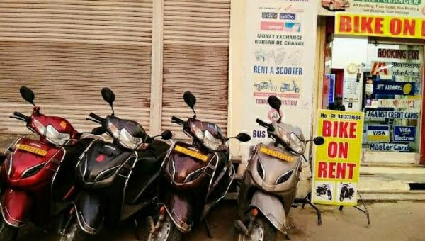 Bike on rent in Udaipur