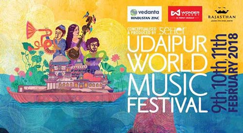 Scheduled performances at the Udaipur World Music Festival 2018