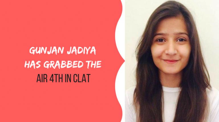 Proud Moment for Udaipur | Gunjan Jadiya has grabbed the AIR 4th in CLAT!