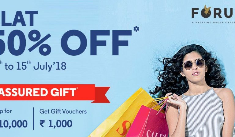 It's FLAT 50% OFF at Forum Celebration Mall From 13 to 15 July 2018