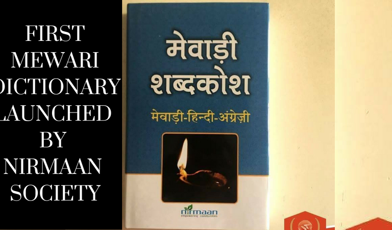 First Mewari Dictionary Launched by Nirmaan Society