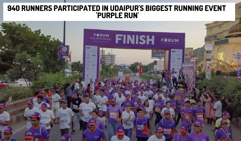 940 Runners Participated in Udaipur's biggest running event 'Purple Run'