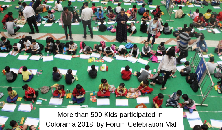 More than 500 Kids participated in 'Colorama 2018' by Forum Celebration Mall