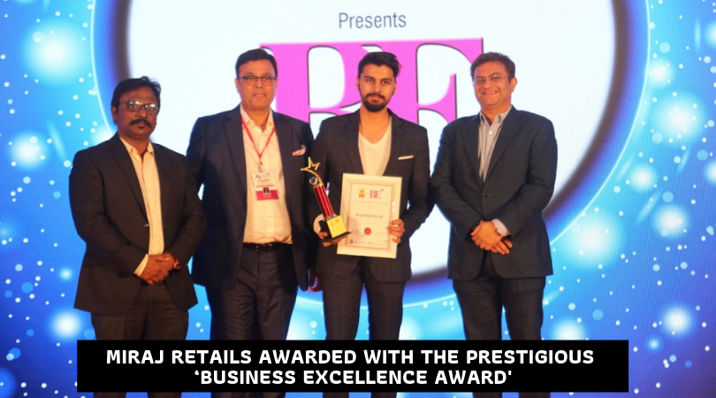 Miraj Retails Awarded with the Prestigious 'Business Excellence Award' by ABP News