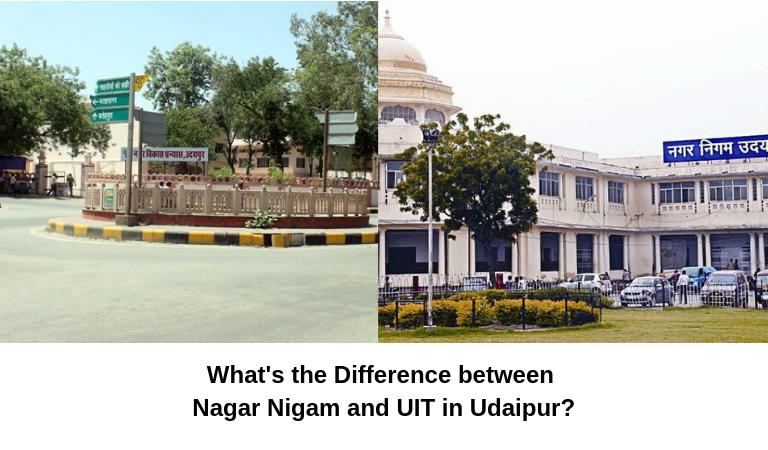 What's the Difference between Nagar Nigam and UIT in Udaipur?