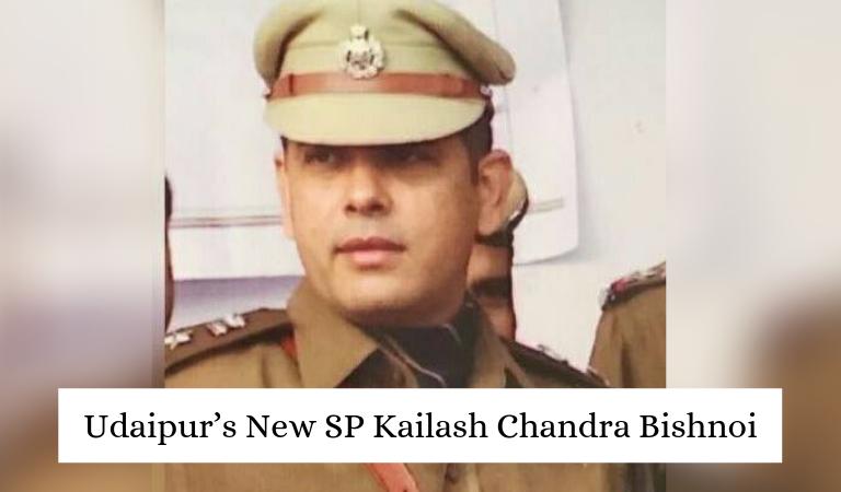 Udaipur's New SP Kailash Chandra Bishnoi