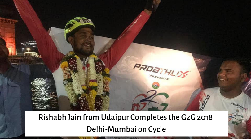 Rishabh Jain from Udaipur Completes the G2G 2018 Delhi-Mumbai on Cycle