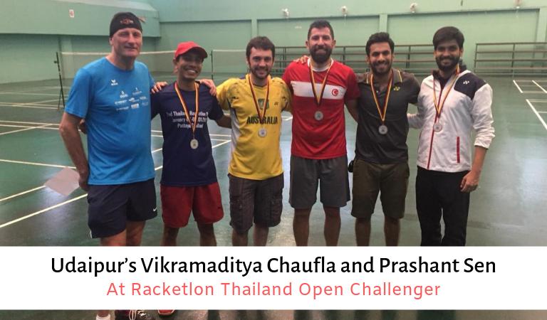 Udaipur'sVikramadityaChauflaandPrashantSenatRacketlonThailand Open Challenger