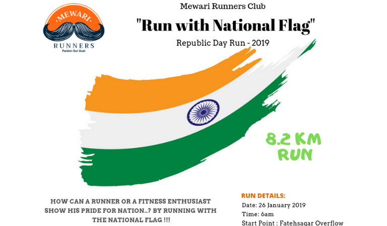 Mewari Runners Club to Organize 'Run with National Flag' on Republic Day