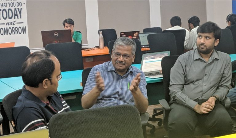 Co-founder of Polaris and Nucleus Yogesh Andlay visits NJR iCUBE
