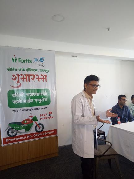 FORTIS JK HOSPITAL starts Udaipur's first bike ambulance service