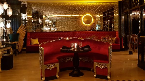 Dining arrangement at Enigma.