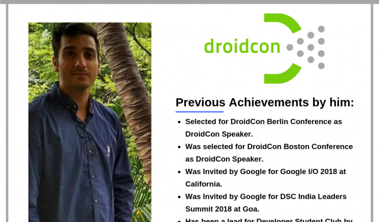 Techno NJR's Akshay Nandwana selected as Speaker for DroidCon Berlin Conference