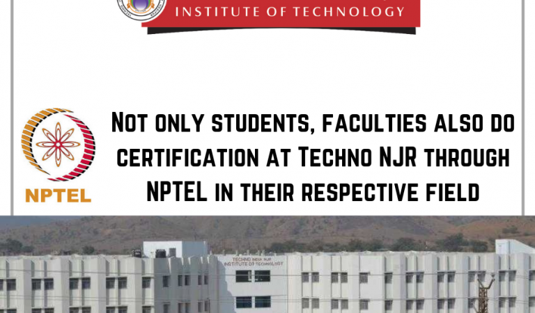12 Techno NJR Faculties Certified NPTEL Certification in their respective field