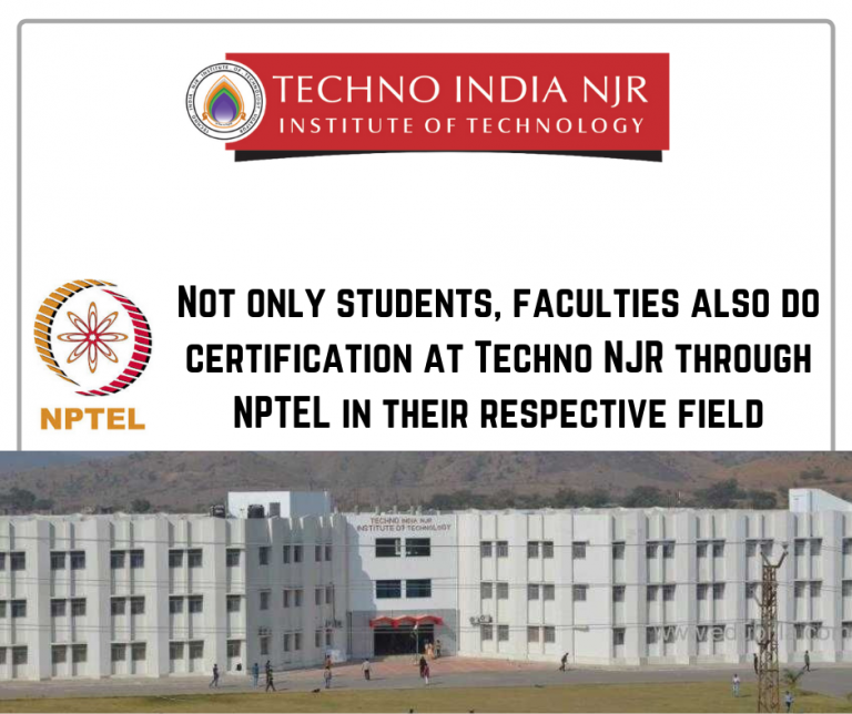 12 Techno NJR Faculties Certified NPTEL Certification in their
