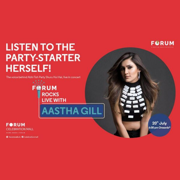 Aastha Gill event at Forum Celebration Mall