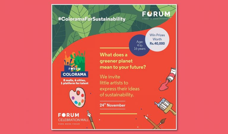 Forum Celebration Mall invites young artists to showcase their ideas on Sustainability