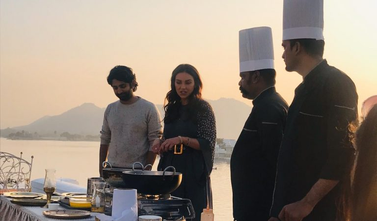 International Celebrity Chef, Sarah Todd at Jagat Niwas to shoot for her cookbook