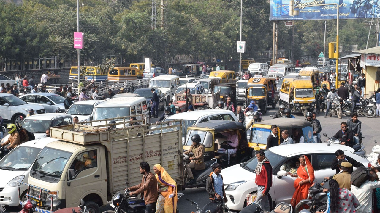 Udaipur Traffic Jam