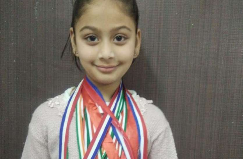 8 year old Saivi Singh's name registered in International Olympiad Hall of Fame