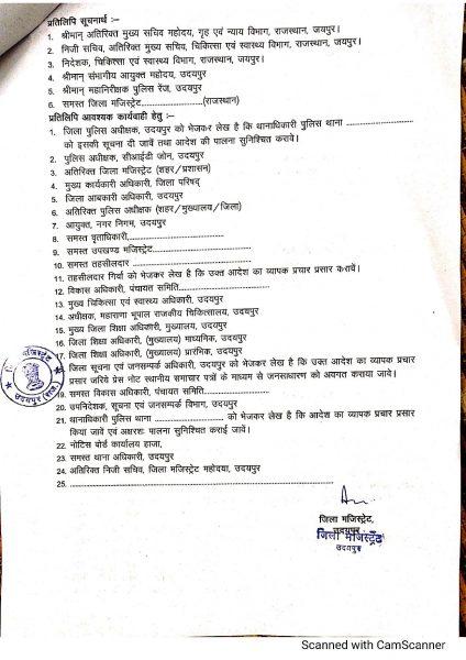 Curfew Order Udaipur