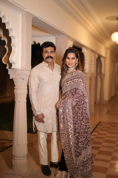Ram charan and wife at Nischay wedding Udaipur