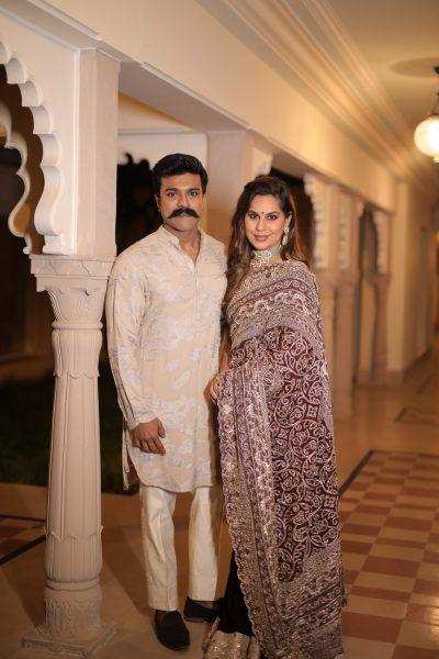 Ram charan and wife at Nischay wedding Udaipur
