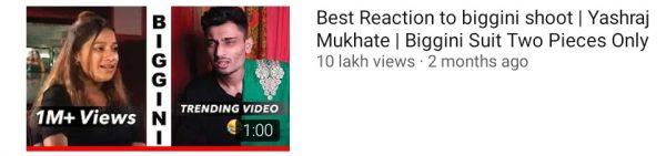Sankalp Nag Video crosses 1 Million views on youtube