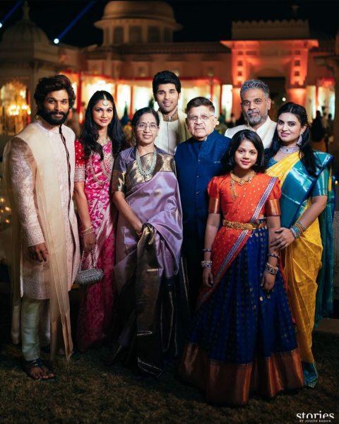 Allu Arjun family at Niharika Konidela Wedding