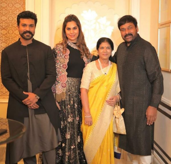 Ram Charan Family for destination wedding in Udaipur