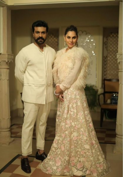 Ram Charan and wife in Udaipur