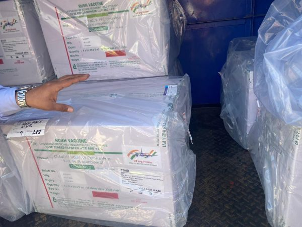 Supply of vaccines in Udaipur - covishield