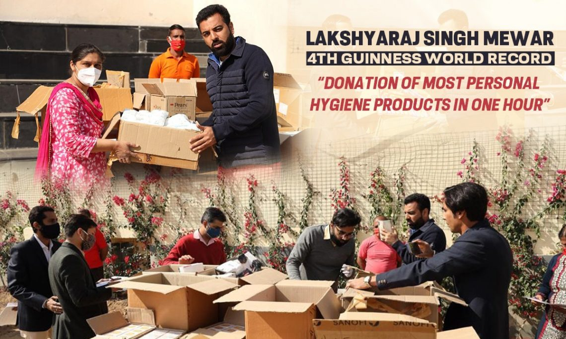 Lakshyaraj Singh Mewar 4th Guinness World Record
