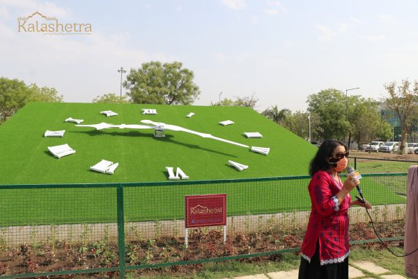 1000 sq. ft. Floral Clock at Maharana Pratap Airport