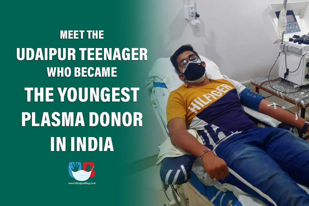 youngest plasma donor in India from Udaipur